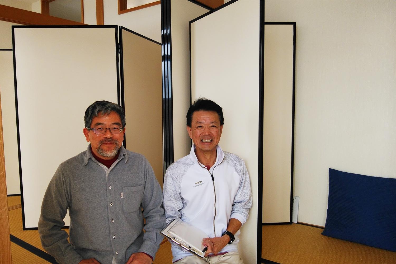 院長の永田 文隆先生(左)と、内観療法担当の高橋先生(右)。長島所長が撮影。